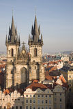 Gothic cathedral in Prague Royalty Free Stock Images