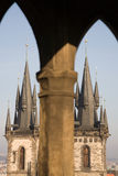 Gothic cathedral in Prague royalty free stock image