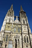 Gothic cathedral in Regensburg, Germany Stock Photos