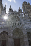 Gothic cathedral in Reims. France in summer. Royalty Free Stock Photography