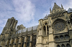 Gothic cathedral Rheims in France Royalty Free Stock Image