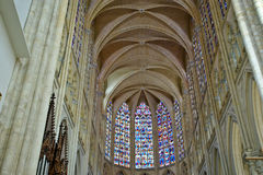 Gothic cathedral of Saint Gatien, Tours, France Royalty Free Stock Photos