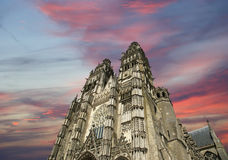 Gothic cathedral of Saint Gatien, Tours, France Stock Image