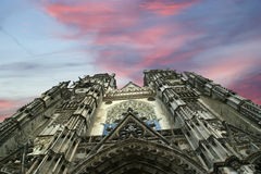Gothic cathedral of Saint Gatien, Tours, France Stock Photography