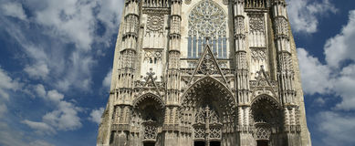 Gothic cathedral of Saint Gatien, Tours, France Royalty Free Stock Images