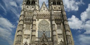 Gothic cathedral of Saint Gatien, Tours, France Stock Images