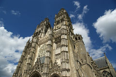 Gothic cathedral of Saint Gatien, Tours, France Royalty Free Stock Photo