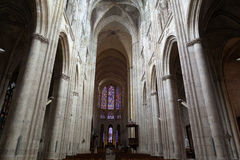 Gothic cathedral of Saint Gatien in Tours Royalty Free Stock Images