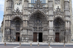 Gothic cathedral of Saint Gatien in Tours, Royalty Free Stock Photo