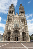 Gothic cathedral of Saint Gatien in Tours, Stock Photography