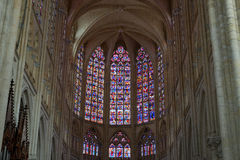 Gothic cathedral of Saint Gatien in Tours; Stock Photography