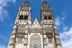 Gothic cathedral of Saint Gatien in Tours Royalty Free Stock Photos