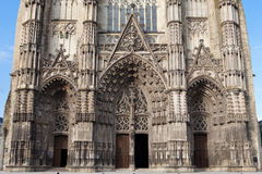 Gothic cathedral of Saint Gatien in Tours Stock Image