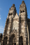Gothic cathedral of Saint Gatien in Tours Stock Photography