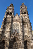 Gothic cathedral of Saint Gatien in Tours Stock Photo
