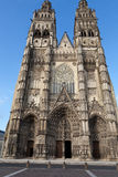 Gothic cathedral of Saint Gatien in Tours Royalty Free Stock Photo
