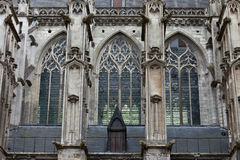 Gothic cathedral of Saint Gatien in Tours Stock Images