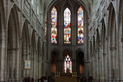 Gothic cathedral of Saint Louis in Tours Stock Image