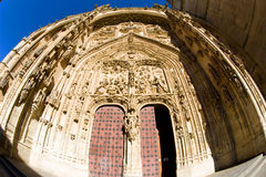 Gothic cathedral in Salamanca. Castile and Leon, Spain Stock Image