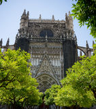 The gothic cathedral in Seville, Spain, Europe. On a summer day Royalty Free Stock Photography