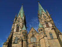 Skara, Sweden. Gothic cathedral in Skara, Sweden Royalty Free Stock Images