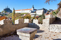 Gothic cathedral of St. Barbara, Silver castle Hradek and Jesuit college, Central Bohemia, Kutna Hora, Czech republic, Europe Stock Image