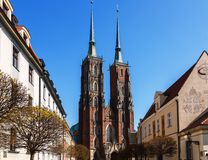 The Gothic Cathedral of St. John the Baptist. In Wroclaw Royalty Free Stock Photo