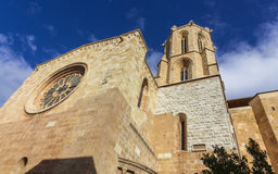 Gothic Cathedral in Tarragona. Royalty Free Stock Images