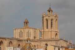 Gothic Cathedral in Tarragona town. Spain Royalty Free Stock Photography