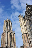Gothic cathedral and tower Royalty Free Stock Images