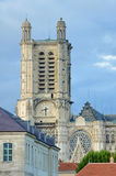 Gothic Cathedral Troyes with tower Stock Photo