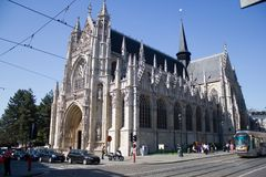 Gothic cathedral under a nice blue sky royalty free stock image