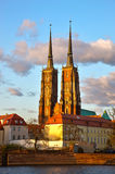 Gothic Cathedral in Wroclaw, Poland Stock Images