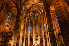 Gothic Catholic Barcelona Cathedral Basilica Catalonia Spain Stock Photo