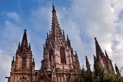 Gothic Catholic Barcelona Cathedral Catalonia Spain Stock Photos