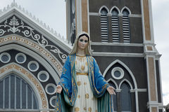 THE GOTHIC CATHOLIC CHURCH IN EASTERN OF THAILAND Royalty Free Stock Image