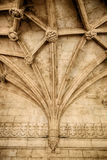 Gothic Ceiling With Ribbed Vaulting Royalty Free Stock Photos