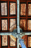 Gothic ceiling in Transylvania. The ceiling of a gothic church in Valea Lunga village, Romania Stock Photo