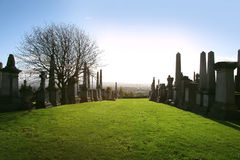 Gothic cemetery Stock Photos