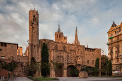 Gothic Chapel of St. Agatha in Barcelona Royalty Free Stock Images