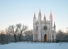Gothic chapel. In the suburbs of St. Petersburg Royalty Free Stock Images