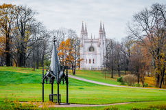 Gothic chapel and well Stock Photography