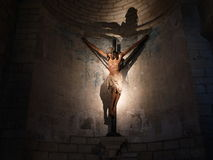 Gothic Christ in Puente La Reina, Spain Royalty Free Stock Photos