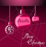 Gothic Christmas greeting card Royalty Free Stock Photo