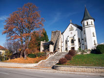 Gothic chruch in Mosovce, Slovakia Stock Photos