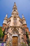 Gothic church 1. Gothic church (in front view Stock Image
