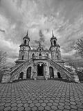 Gothic church. Ancient church in gothic style in Russia royalty free stock images