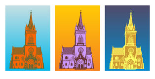 Gothic church. Color gothic church vector illustration Stock Image