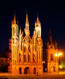 Gothic church. St Anne Church in Vilnius old town, Lithuania Royalty Free Stock Image