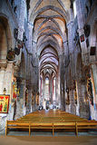 Gothic church. Interior of traditional Gothic church Royalty Free Stock Photography